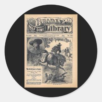 Beadles Half Dime Library Vol XXII No 560 1888 Round Sticker