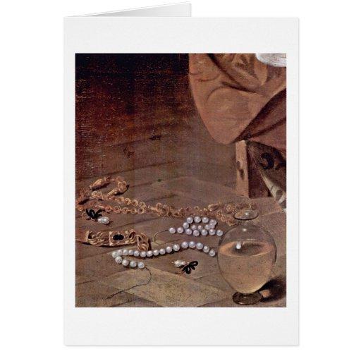 Beads By Michelangelo Merisi Da Caravaggio Greeting Card