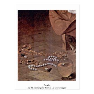 Beads By Michelangelo Merisi Da Caravaggio Post Card