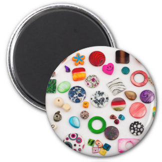 Beads colorful | 6 cm round magnet