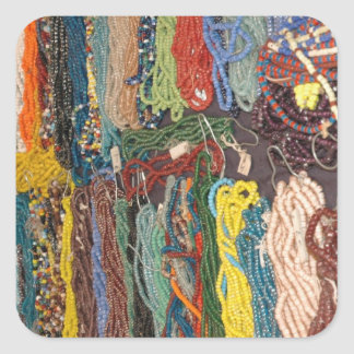 beads square sticker