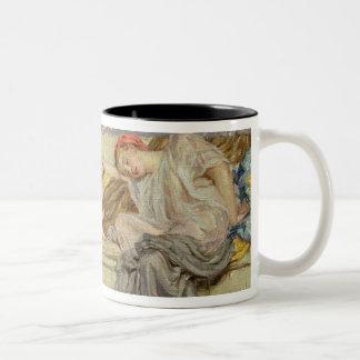 Beads (study), c.1875 (oil on canvas) Two-Tone coffee mug