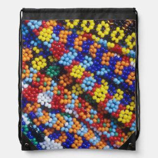 Beadwork, Melmoth, Kwazulu-Natal, South Africa Drawstring Bag