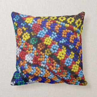 Beadwork, Melmoth, Kwazulu-Natal, South Africa Throw Pillow