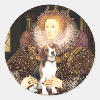 Beagle 1 - Queen Elizabeth I Round Sticker