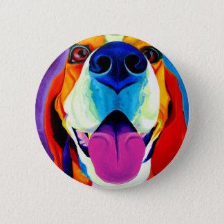 Beagle #3 6 cm round badge
