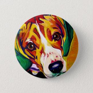 Beagle #5 6 cm round badge