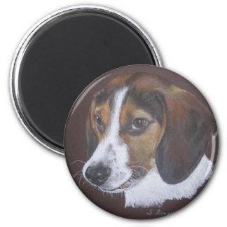Beagle 6 Cm Round Magnet