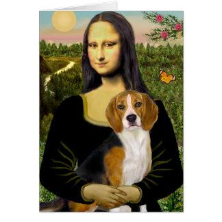 Beagle 7 - Mona Lisa Greeting Card