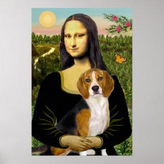 Beagle 7 - Mona Lisa Posters