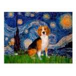 Beagle 7 - Starry Night Post Card