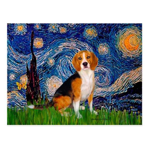 Beagle 7 - Starry Night Post Card
