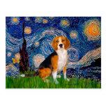 Beagle 7 - Starry Night Postcard
