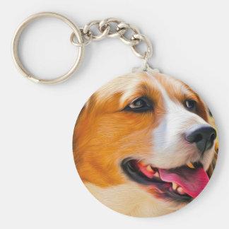 Beagle art key ring