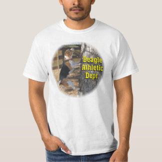 Beagle Athletic Dept Climbing Tree T Shirt