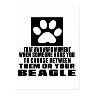 BEAGLE AWKWARD DESIGNS POSTCARD