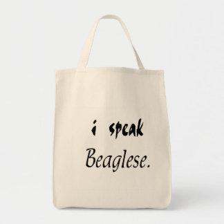 Beagle Bark - I Speak Beaglese Tote Bags