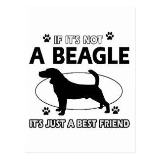 BEAGLE best friend designs Postcard