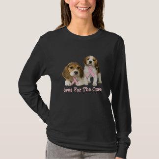 Beagle Breast Cancer Ladies T-Shirt