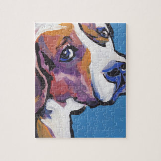 Beagle Bright Colorful Pop Dog Art Jigsaw Puzzle