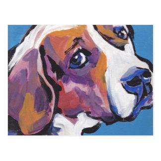 Beagle Bright Colorful Pop Dog Art Postcard
