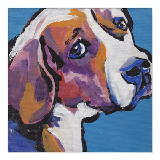 Beagle Bright Pop Art Poster Print