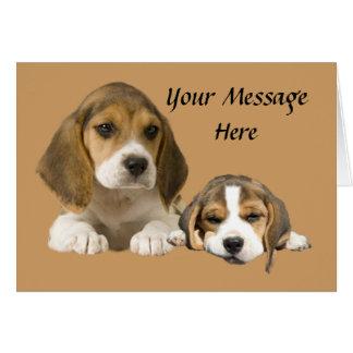 Beagle Buddies Greeting Card