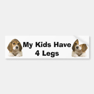 Beagle Bumper Sticker My Kids Have 4 Legs
