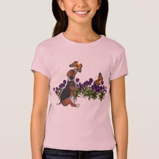 Beagle Butterflies Flowers Cute Dog T Shirt