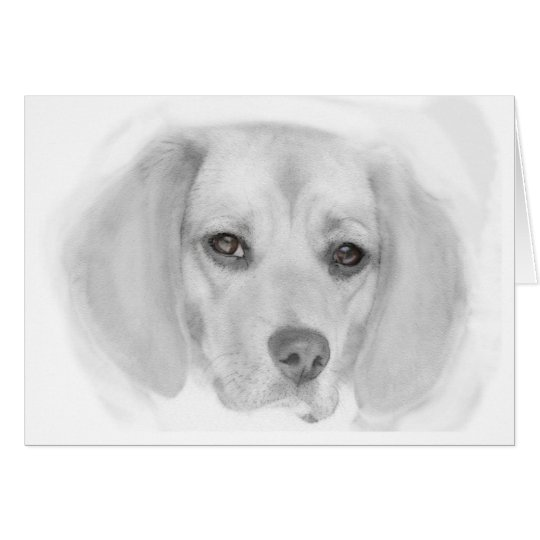Beagle Card (Digital Art)