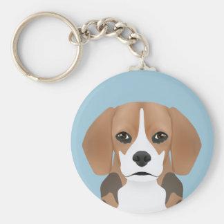Beagle cartoon key ring
