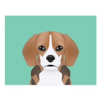 Beagle cartoon postcard