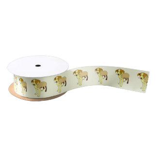 Beagle Cartoon Satin Ribbon