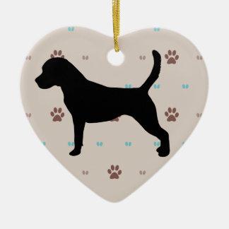 Beagle Ceramic Heart Decoration