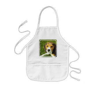 Beagle Children's Smock Kids Apron