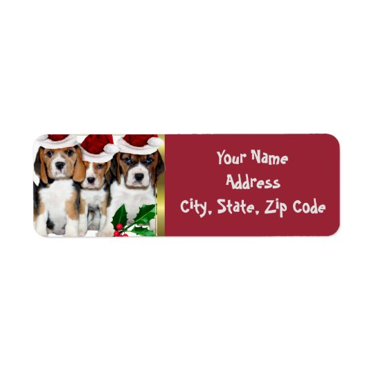 Beagle Christmas Address Labels