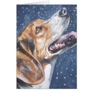 Beagle Christmas Card