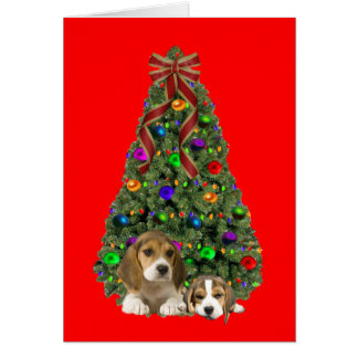 Beagle Christmas Card Tree