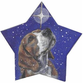 beagle christmas ornament photo cutouts