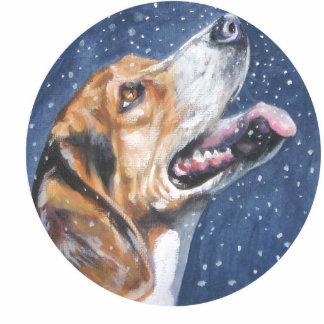 beagle christmas ornament cut outs