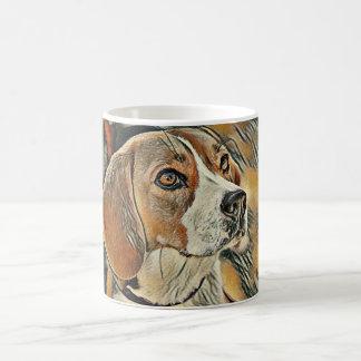 Beagle, Colour Sketch. Coffee Mug