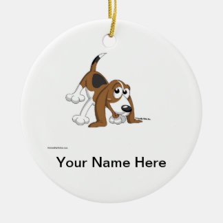 Beagle, Coonhound, Basset Hound Christmas Ornament