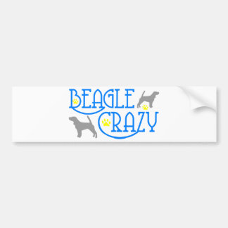 BEAGLE CRAZY BUMPER STICKER
