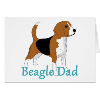 Beagle Dad 2 Note Card