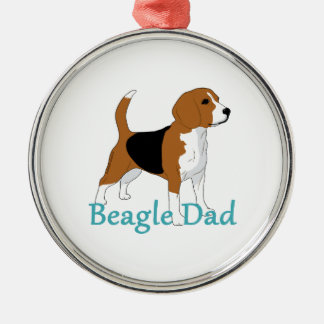 Beagle Dad Beagle Lovers Black Tan White Dog Christmas Ornament