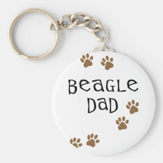 Beagle Dad Key Ring