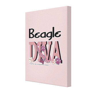 Beagle DIVA Stretched Canvas Print