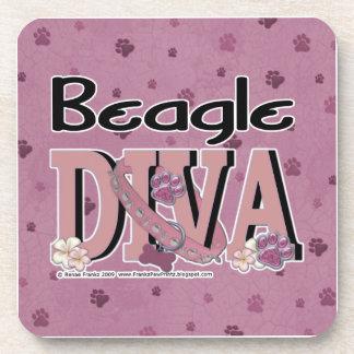 Beagle DIVA Beverage Coaster
