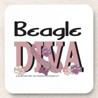 Beagle DIVA Drink Coaster