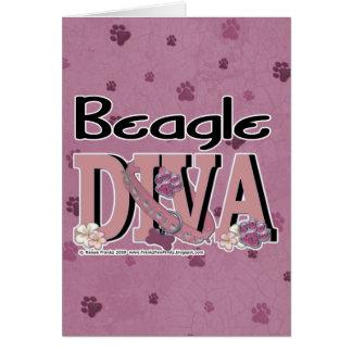 Beagle DIVA Greeting Card